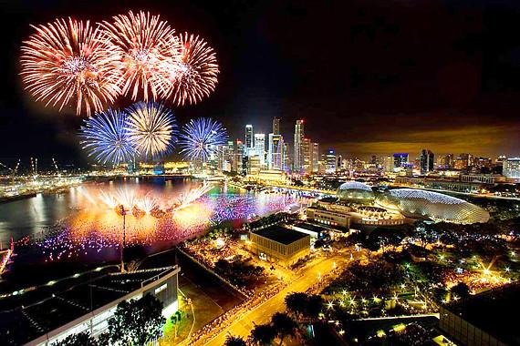 シンガポール花火